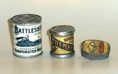 """1:6 scale large can of WW II French /""""Liberated peas/"""""""