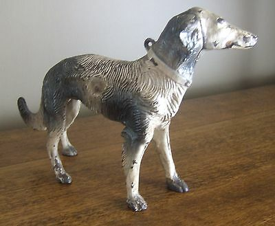 A VINTAGE (c.1940) CAST IRON RUSSIAN WOLFHOUND DOORSTOP BY HUBLEY!