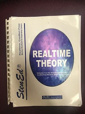 Lot Of 3 Bks StenEd Realtime Theory, Realtime Prof.  Dictionary, Realtime Briefs