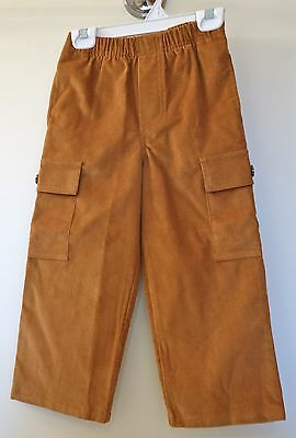 ** NEW ** Kelly's Kids Golden Brown Corduroy Aiden Cargo Pants ~ Size 4yr.
