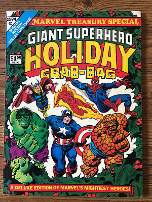 Marvel Treasury Special Edtition (1974) Giant Superhero Holiday Grab-Bag FN/VF
