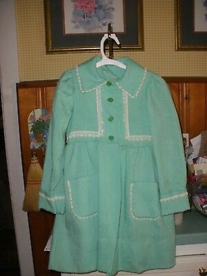 Vintage 60s Boutique by Chris Lynch Child's Girls Easter Coat & Dress 5 to 6