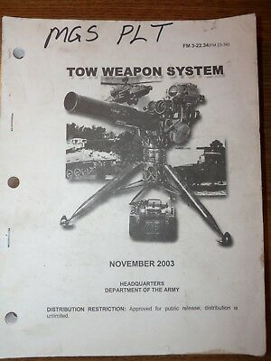 US Army FM 3-22-34 TOW Weapons System Field Guide, November 2003