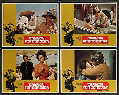 George Peppard CANNON FOR CORDOBA 1970 Original 8 MOVIE LOBBY CARD SET
