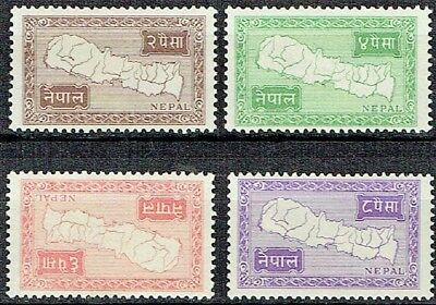 Nepal 1954. Small Map Of Nepal.x 4. Mlh. As Is  See Scan