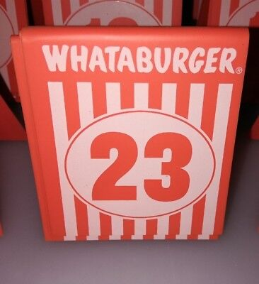 whataburger 23 restaurant table tent numbers sold individually