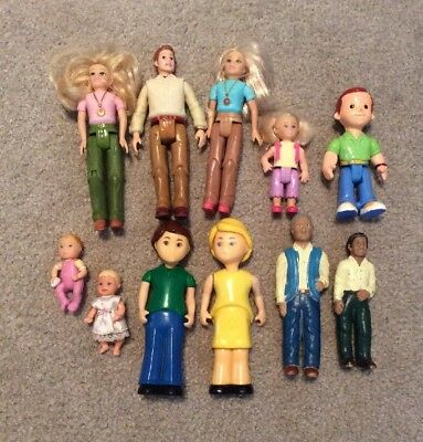 Mattel  Lakeshore Doll House Dolls Mom Dad Daughter Son Babies