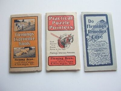 3 Fleming Brothers chemists Union Stock Yards, Chicago, Ill Booklets