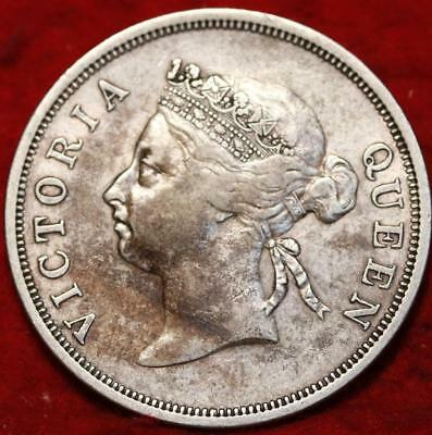 1898 Straits Settlements 50 Cents Silver Foreign Coin