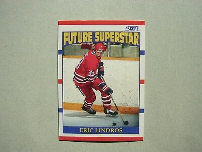 1990/91 Score Nhl Hockey Card #440 Eric Lindros Rookie Nm+ Sharp!! 90/91 Score