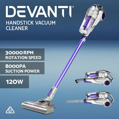 Devanti 120W Cordless Stick Vacuum Cleaner Handheld Handstick Rechargeable PP