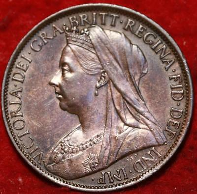 1900 Great Britain One Penny Foreign Coin