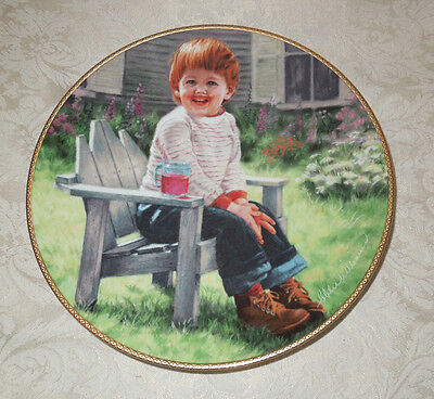 KNOWLES PLATE A Time To Laugh COA Little Boy Red Hair Koolaid MARCH OF DIMES