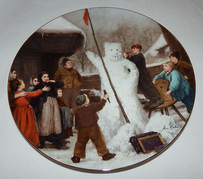 Langenthal 7th Plate THE SNOW BEAR Albert Anker Heritage Collection COA & Box