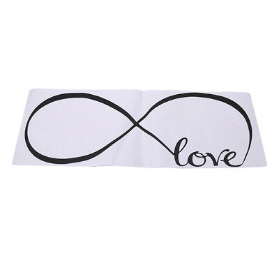 Removable Bedroom Wall Stickers Decor Infinity Symbol Word Love Wallpaper D