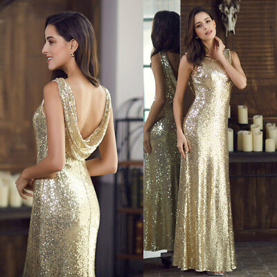 Ever-Pretty US Long Women Sequin Evening Party Prom Celebrity Homecoming Dresses