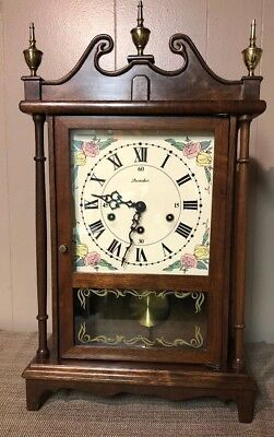 Daneker Pilar And Scroll German Movement Westminster Chime Wall Mantle Clock