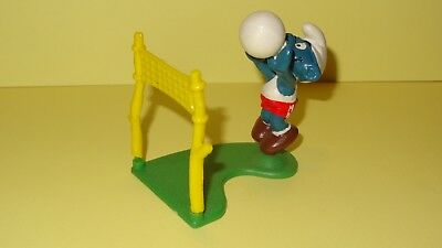 Smurfs Volleyball Super Smurf Vintage Rare Display Classic Figure