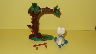 Smurfs Tree Swing Smurf (Broken) Vintage Rare Display Classic Figure