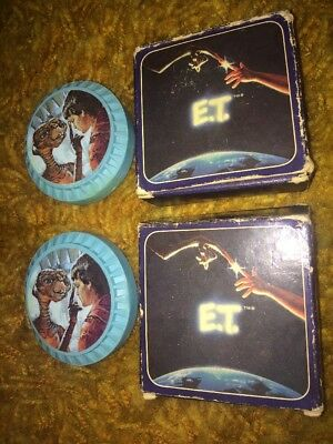 VTG 1983 LOT 2 Avon E.T. & Elliott Decal Soap Bars 80s Blue Novelty