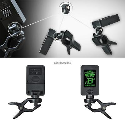 Lightweight 360 Degree Rotation LED Screen Display Clip-On Tuner A8