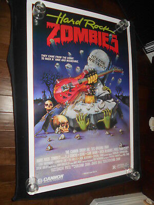 Hard Rock Zombies  Original Rolled One Sheet Poster Horror