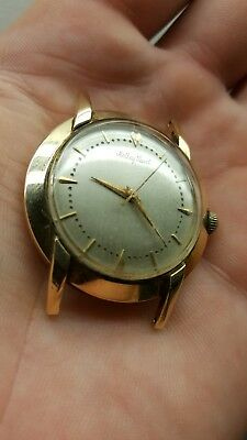 Vintage Mathey Tissot Automatic Men's Watch Heavy Solid 14K Gold