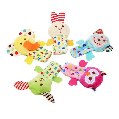 5Pcs/Lot Finger Puppets Plush Cloth Doll Baby Cartoon Animal Hand For Kid Toys D