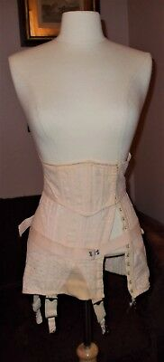 True Vintage 1950s Boned Kelloge Combination Corset, Stomacher & Garter Belt