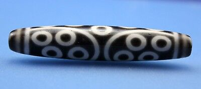75*15 mm Antique Dzi Agate old 22 eyes Bead from Tibet **Free shipping**
