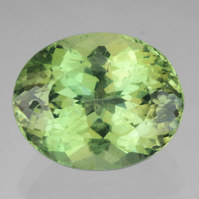 Apatite 3.00 Cts Natural Gemstone Green Color Oval Shape Gorgeous Rare ++