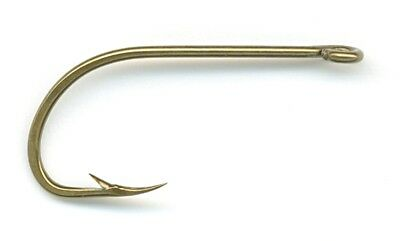 Mustad 92671-BR-6-10 Classic Beak Hook, Size 6, Forged, Special Long