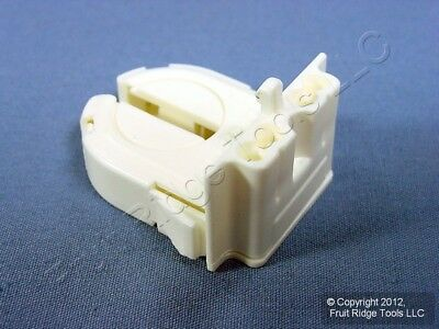 Leviton Fluorescent Lamp Holder Light Socket T8 Wide Fin Base Bi-Pin 13652-WWP
