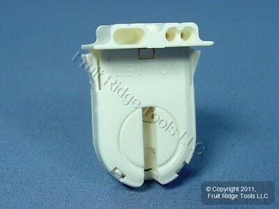 Leviton Fluorescent Lamp Holder Light Socket T12 T8 Bi-Pin Shunted Bulk 23653-NP