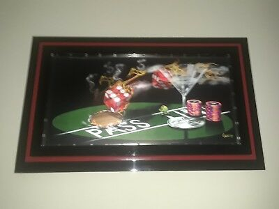 Michael Godard Exclusive 3D Lenticular Praying for 7's One of a Kind Vegas Rare