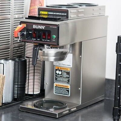 Bunn 12950.0261 CWTF35-3 Automatic 12 Cup Coffee Brewer with 2 Upper Warmers, 1