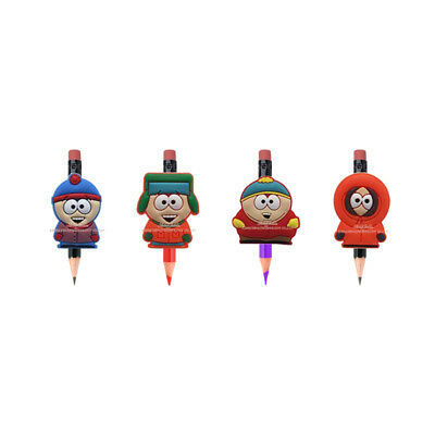 20PCS South Park PVC Figure Pencil Toppers DIY School Stationery Kids Xmas Gift