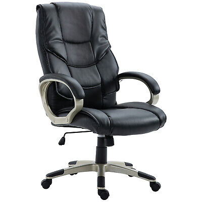 Swivel Office Chairs PU Leather Adjustable Business Computer Office Desk Chair