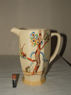 Clarice Cliff Art Deco Tiger Tree Large Athens Shaped Jug  Truly Stunning