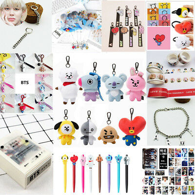 Kpop BTS BT21 Bangtan Boys Cartoon JIMIN JUNKOOK SUGA Plush Doll Key Ring Cards