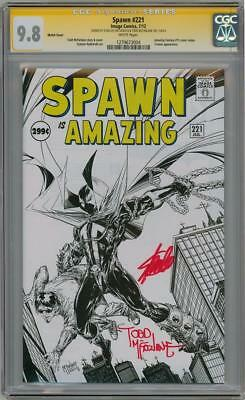 Spawn #221 Variant Cgc 9.8 Signature Series Signed Stan Lee Todd Mcfarlane Af 15