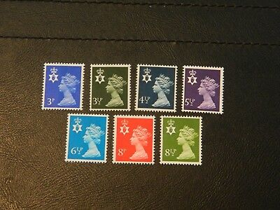 G.B Regional Stamps SG NI 14,16,17,20,21,24,25 all 7 values MNH issued 1974-76.
