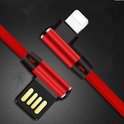 NEW Elbow Fast USB Charger Charging Cable Cord For iPhone Android Micro 1M 2M AU