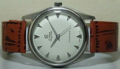 Vintage Cyma Navystar CYMAFLEX Winding Swiss Made Wrist Watch R927 Old Antique