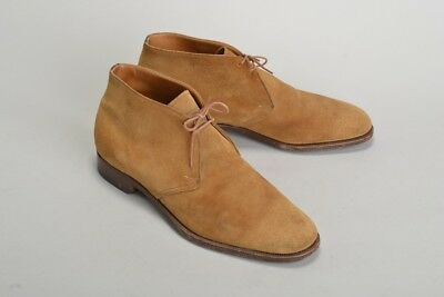 Gentleman's Church's s9.5F (wide) Suede Chukka Boots & Metal Trees. Ref JDFJ