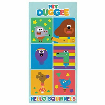 Official Hey Duggee Towel Beach Bath Large 100% Cotton Girls Boys