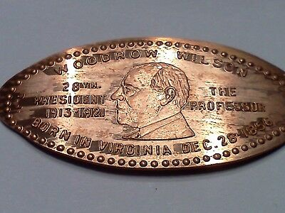 WOODROW WILSON 28TH PRESIDENT RETIRED-Elongated / Pressed Penny H-563