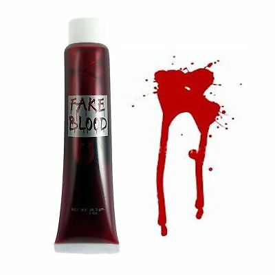 1 Fake Blood Tube Zombie Horror Wounds Scabs Halloween Party Stage Makeup Paint