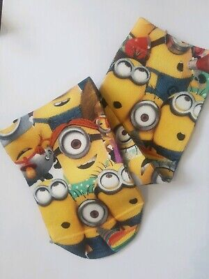 Boys,Girls,Childrens. Minion Despicable Me Socks - Three Pairs.