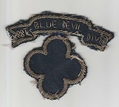 Bullion WW 2 US Army 88th Blue Devil Infantry Division Patch & Tab Inv# S799